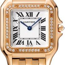 Cartier Rose gold Quartz Silver 27mm new Panthère
