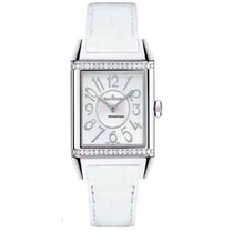 Jaeger-LeCoultre Reverso Squadra Lady Duetto Stahl 42mm Weiß