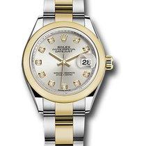 Rolex Lady-Datejust Acero y oro 28mm Plata