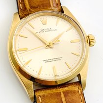 Rolex Oyster Perpetual 34 Yellow gold 34mm Champagne No numerals