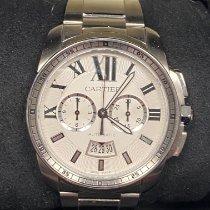 Cartier Calibre de Cartier Chronograph Сталь 42mm Cеребро Римские