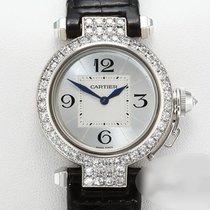 Cartier Pasha gebraucht 32mm Silber Leder