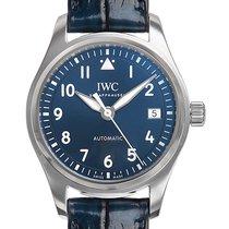 IWC Pilot's Watch Automatic 36 Сталь 36mm Синий Aрабские