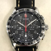 Victorinox Swiss Army Chrono Classic Stal 45mm Czarny Arabskie