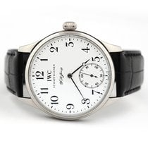 IWC Platinum Manual winding White Arabic numerals 43mm pre-owned Portuguese Hand-Wound