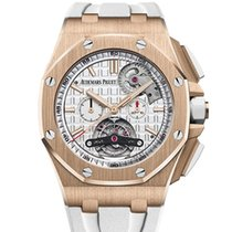 Audemars Piguet Royal Oak Offshore Tourbillon Chronograph Rose gold 44mm Silver