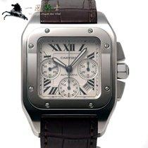 Cartier Santos 100 Сталь 55mm Белый