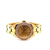 Rolex Lady-Datejust Pearlmaster Yellow gold 29mm Mother of pearl No numerals United States of America, New York, New York