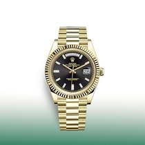 Rolex Yellow gold Automatic Black No numerals 40mm new Day-Date 40