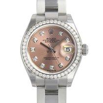 Rolex Lady-Datejust Сталь 28mm Розовый Без цифр