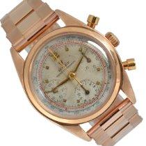 Rolex Chronograph Růžové zlato escluso corona di carica 36mm Bílá Bez čísel