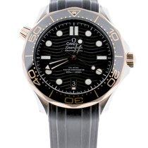 Omega Seamaster Diver 300 M Acero y oro 42mm Negro