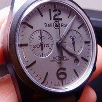 Bell & Ross Vintage nou 2010 Atomat Cronograf Ceas cu cutie originală și documente originale 126
