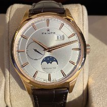 Zenith Captain Moonphase Or rose 40mm Blanc Sans chiffres
