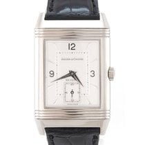 Jaeger-LeCoultre White gold Manual winding Silver 26mm pre-owned Reverso Grande Taille
