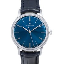 Zenith Elite 6150 Acier 42mm Bleu