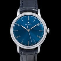 Zenith Steel Automatic Blue 42mm new Elite 6150