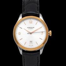 Montblanc Rose gold Automatic Silver 40mm new Heritage Chronométrie