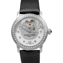 Frederique Constant Ladies Automatic Heart Beat Acier 34mm Blanc