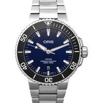 Oris 01 733 7730 4135-07 8 24 05PEB Steel 2021 Aquis Date 43.5mm new