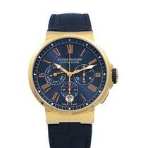 Ulysse Nardin (ユリスナルダン) マリーン クロノグラフ 新品 2021 自動巻き 正規のボックスと正規の書類付属の時計 1532-150/43