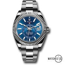 Rolex Sky-Dweller Acier 42mm Bleu Sans chiffres