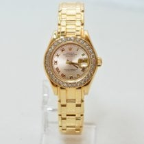 Rolex Lady-Datejust Pearlmaster Oro amarillo 29mm Champán Romanos