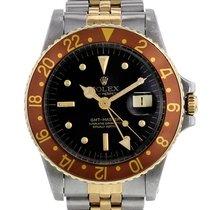Rolex GMT-Master Золото/Cталь 40mm Черный Без цифр