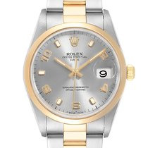 Rolex Oyster Perpetual Date Or/Acier 34mm Arabes
