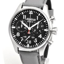 Alpina Startimer Pilot Сталь 44mm Черный Без цифр