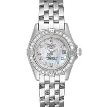 Breitling Callistino pre-owned 29mm Mother of pearl Date White gold