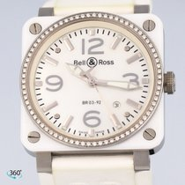 Bell & Ross Ceramic 42mm Automatic BR0392-WH-C-D/SRB pre-owned