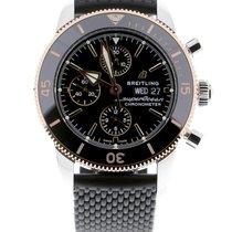 Breitling Superocean Heritage II Chronographe Goud/Staal 44mm Zwart