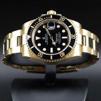 Rolex Submariner Date подержанные 40mm Чёрный Дата Жёлтое золото