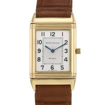 Jaeger-LeCoultre Yellow gold Manual winding Silver Arabic numerals pre-owned Reverso Classique