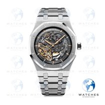Audemars Piguet Royal Oak Double Balance Wheel Openworked Сталь 41mm Прозрачный Без цифр