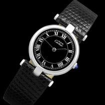 Cartier Silver Quartz Black Roman numerals 23mm pre-owned