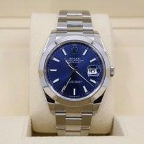 Rolex Steel Automatic Blue No numerals 41mm new Datejust