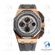 Audemars Piguet Royal Oak Offshore Chronograph Or rose 44mm Gris Sans chiffres