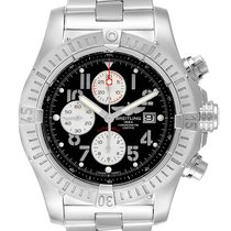 Breitling Super Avenger pre-owned 48.4mm Black Chronograph Date Steel