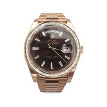 Rolex Day-Date 40 Rose gold 40mm Brown No numerals