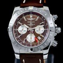 Breitling Chronomat 44 GMT neu 2012 Automatik Chronograph Uhr mit Original-Box und Original-Papieren AB042011/Q589