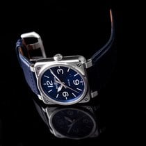 Bell & Ross Steel Automatic Blue 42mm new BR 03-92 Steel