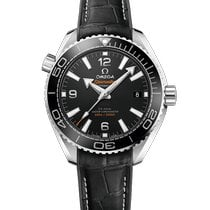 Omega Seamaster Planet Ocean Steel 39.5mm Black Arabic numerals