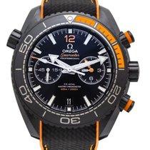 Omega Céramique Remontage automatique Noir Arabes 45,5mm nouveau Seamaster Planet Ocean Chronograph
