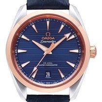 Omega Seamaster Aqua Terra Gold/Steel 38.5mm Blue No numerals