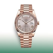 Rolex Day-Date 40 Rose gold 40mm Silver Roman numerals United States of America, New York, New York