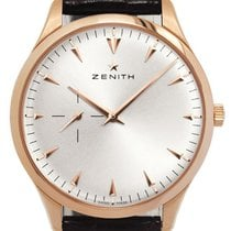 Zenith Elite Ultra Thin Rose gold 40mm Silver No numerals