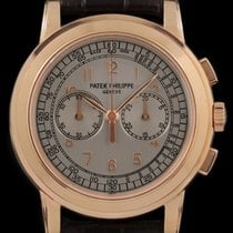 Patek Philippe Chronograph pre-owned 42mm Silver Chronograph Crocodile skin
