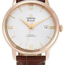 Omega Rose gold Automatic Silver Roman numerals 39.5mm new De Ville Prestige